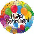 """17"""" Happy Retirement Balloon"""