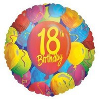 18th Birthday Painted Balloons Image 1