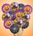 Small Halloween Mylar Balloon Bouquet