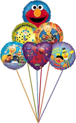 Sesame Street Birthday Balloon Bouquet Image 1 Loading Zoom