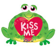"30"" SuperShape Kiss Me Toad Balloon"