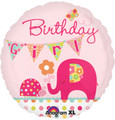 Birthday Girl Pink Elephant Balloon