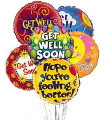 Get Well Soon Mylar Balloon Bouquet