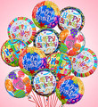 One Dozen Birthday Mylar Balloons