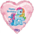 My Little Pony Happy Birthday Heart Balloon