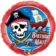 "18"" Round Foil Birthday Mate Pirate Ship"