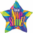 "20"" Star Foil You're Awesome! Radiant"