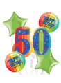 50th Birthday Balloon Bouquet - A Year to Celebrate