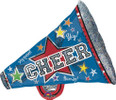 29 Inch Cheer Megaphone Holographic Balloon