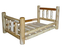 Rustic Cedar Log Toddler Bed