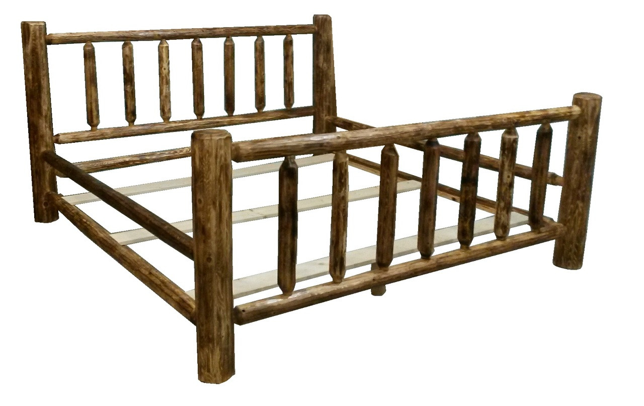 Rustic Cedar Log Bed *Free Shipping*
