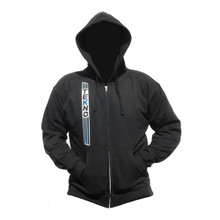 "Tekno RC ""Stripe"" Zippered Hoodie (vertical design, black)"