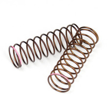 TKR7243 – Shock Spring Set (rear, 1.3×11.25, 2.4lb/in, 63mm, pink)