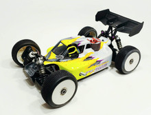 A2.1 TACTIC BODY (CLEAR) W/ FRONT SCOOP FOR MUGEN MBX8 NITRO BUGGY