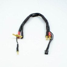 ULTIMATE 2S CHARGE CABLE LEAD W/4mm & 5mm BULLET CONNECTOR (30cm)