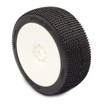 1:8 BUGGY P1 (SOFT - LONG WEAR) EVO WHEEL PRE-MOUNTED WHITE
