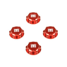 TKR5116BR – Wheel Nuts (RC Logo, 17mm, serrated, Red anodized, M12x1.0, 4pcs)