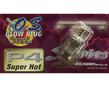 O.S. ENGINE P4 Turbo Glow Plug Super Hot #P4