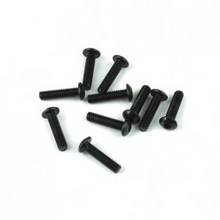 TKR1404 M3x12mm Button Head Screws (black, 10pcs)