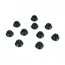 TKR1211  M3 Locknuts (flanged, black, 10pcs)
