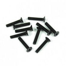 TKR1327 M3x16mm Flat Head Screws (black, 10pcs)