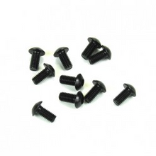 TKR1401 M3x6mm Button Head Screws (black, 10pcs)