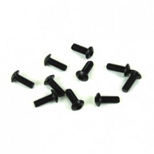 TKR1402 M3x8mm Button Head Screws (black, 10pcs)
