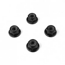 TKR1215 – M5 Locknuts (aluminum, flanged, serrated, black, 4pcs)