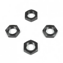 TKR5116 – Wheel Nuts (17mm, serrated, gun metal anodized, M12x1.0, 4pcs)