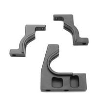 CNC Split Cntr Diff Mount (diff mounts only, 7075, gun metal ano, EB/ET/SCT)