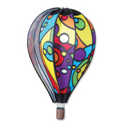 "26"" Rainbow Orbit Hot Air Balloon Spinner"