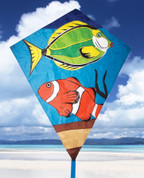 "40"" Tropical Fish Diamond Kite"