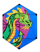 7' Dragon Rokkaku Kite