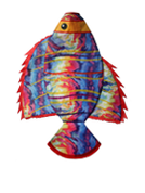 "36"" Tie Dye Angel Fish Windsock"