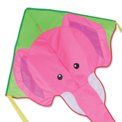 Pink Elephant Large Easy Flyer Kite