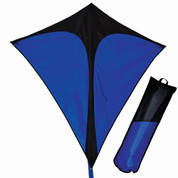 Black & Blue Folding Travel Diamond Kite