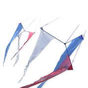 Slo Mo Twister 18 Ft.-Rd/Wh/Bl Kite
