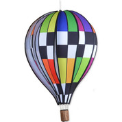 Hot Air Balloon - 22 in. Checkered Rainbow