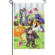 12 in. Flag - Kitten Flowerbed