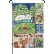 12 in. Flag - Welcome Camp