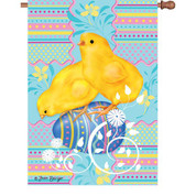28 in. Flag - Easter Chicks