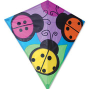 "30"" Three Ladybugs Diamond Kite"