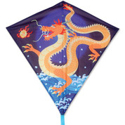 "30"" Asian Dragon Diamond Kite"