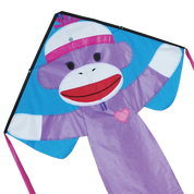 Girly Sock Monkey Easy Flyer Kite