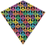 "30"" Tye-Die Peace Sign Diamond Kite"