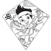 "26"" Jake and the Neverland Pirates Color-Me Diamond Kite"