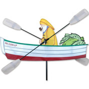 24 In. Fisherman Whirligig