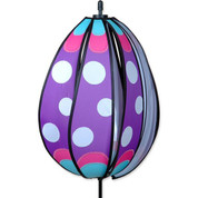 Purple Polka Spinning Egg