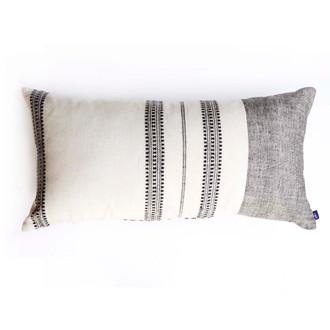 neutral grey pillow