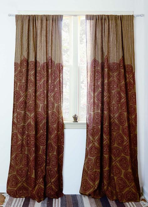 block print curtain